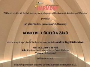 Pozvánka na koncert ZUŠ - 5 let