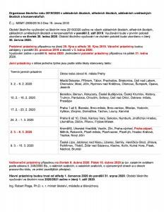 Organizace sk.roku 2019-2020